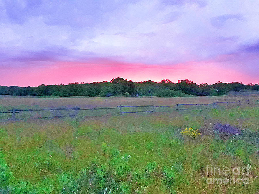 Sunrise Mixed Media - Sunrise In Sheyenne National Grasslands North Dakota by Tracy Ruckman