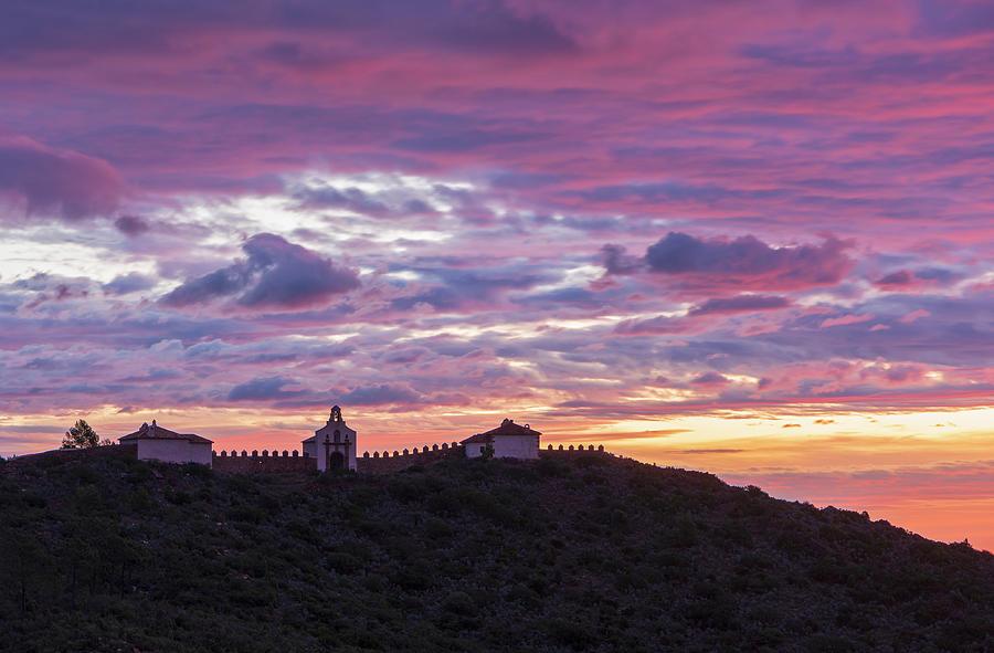 Convent Photograph - Sunrise In The Desert Of Las Palmas, Castellon by Vicen Photography