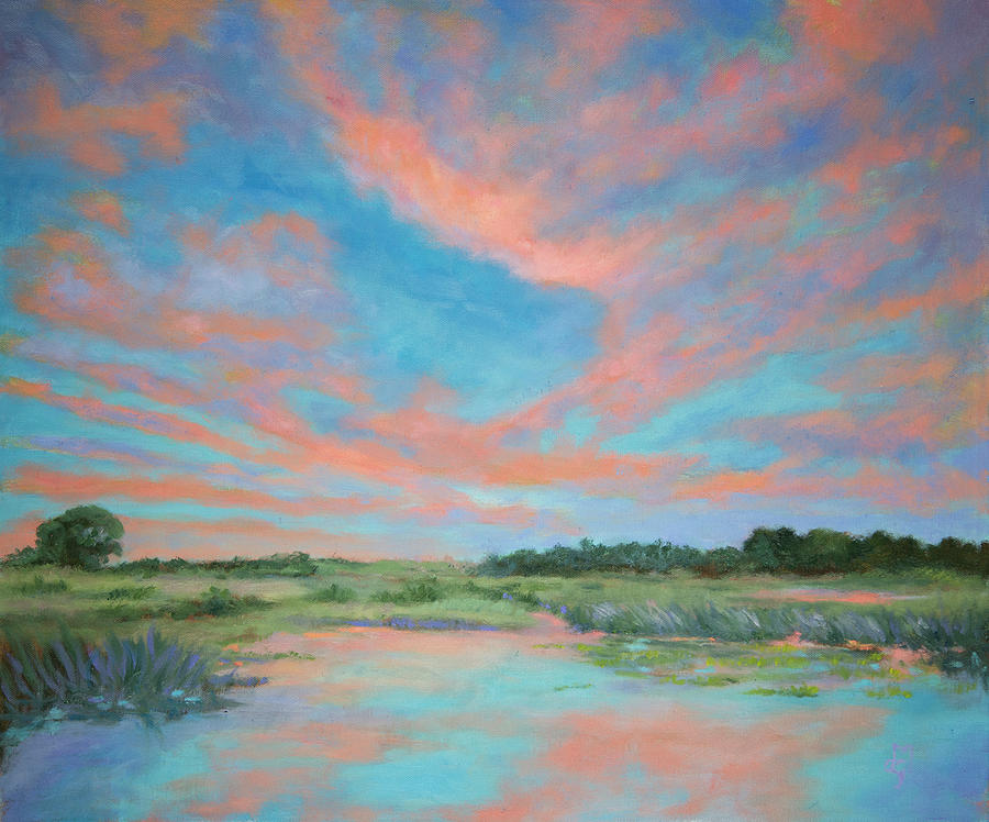 Sunrise Painting - Sunrise Lake Griffin by Diane Martens