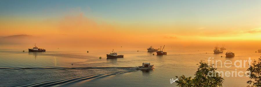 Sunrise Lobster Boats Photograph