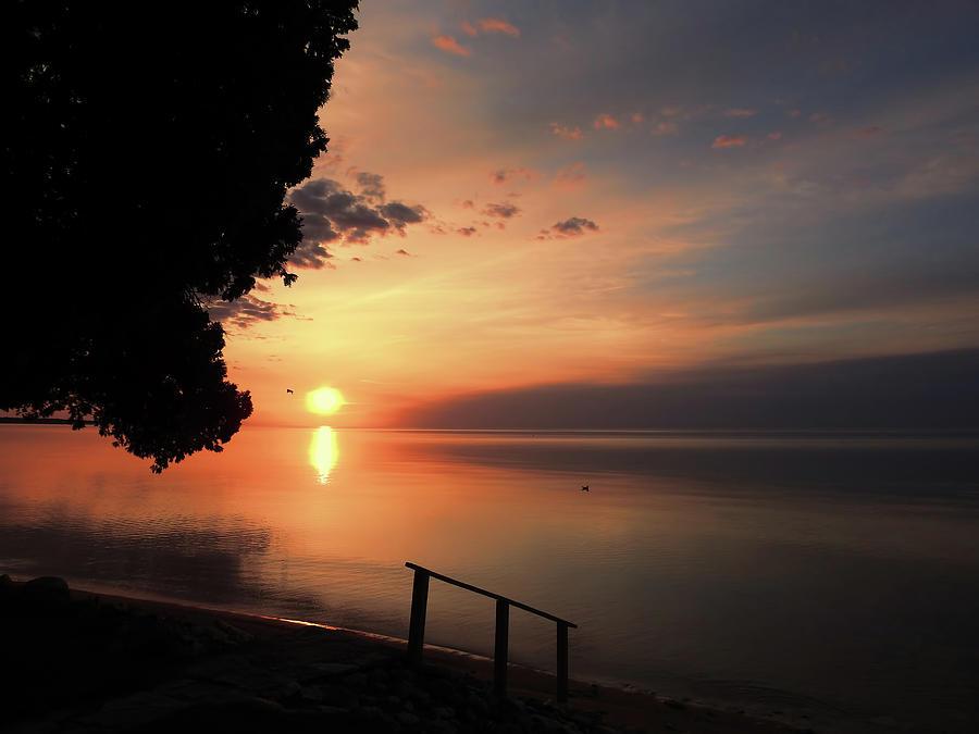 Sunrise On Lake Michigan Photograph