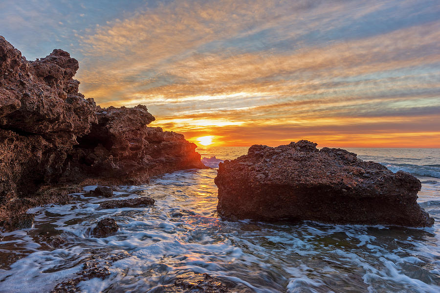 Oropesa Photograph - Sunrise On The Coast Of Oropesa Del Mar by Vicen Photography