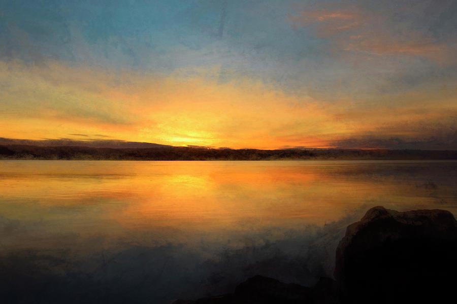 Sunrise Photograph - Sunrise on the Hudson by Nancy De Flon