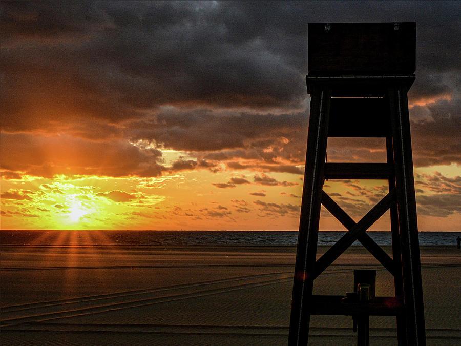 Sunrise on the Ocean City Boardwalk by Dave Hilbert
