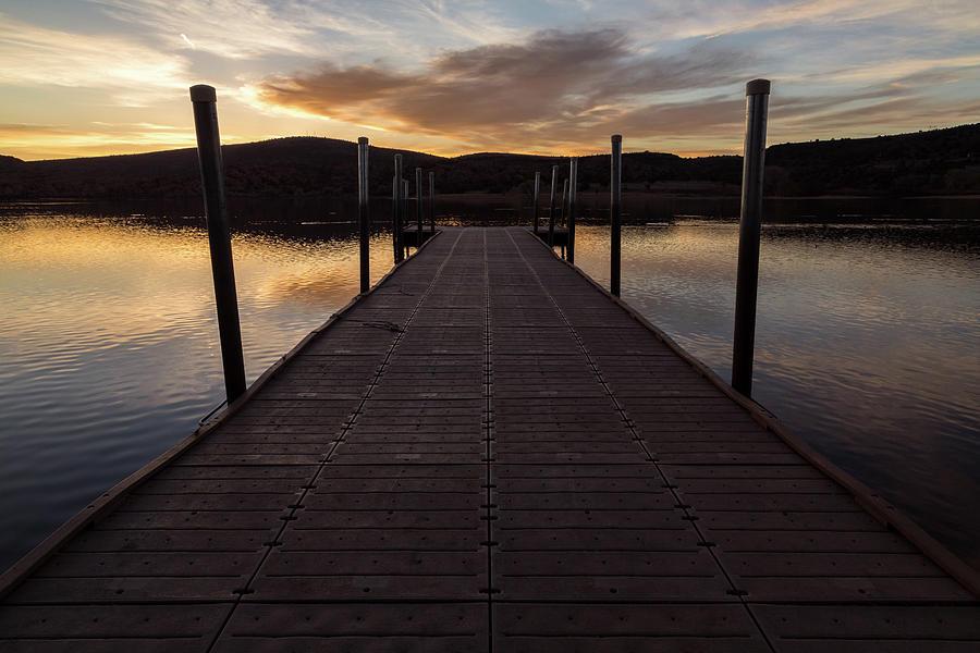 Sunrise On Watson Lake Photograph