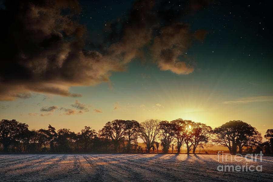 Sunrise over frosty fields in Norfolk by Simon Bratt Photography LRPS