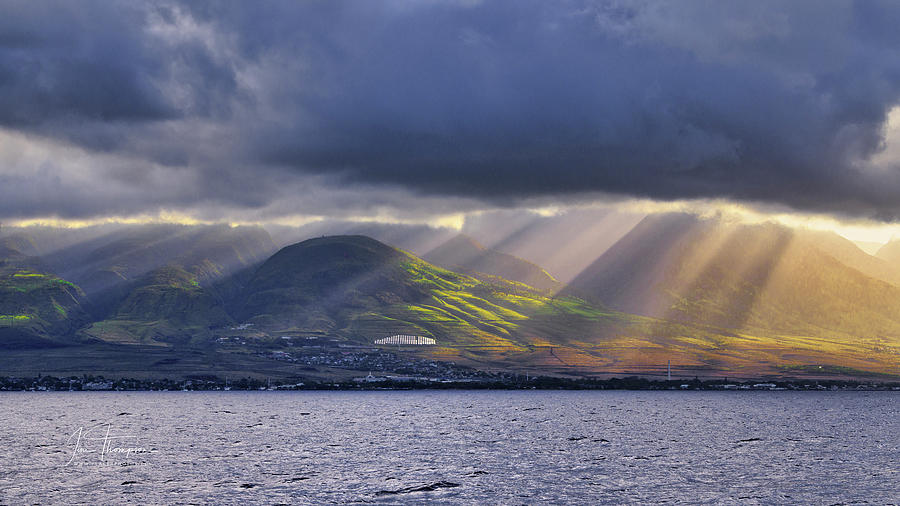 Hawaii Photograph - Sunrise Over Lahaina by Jim Thompson