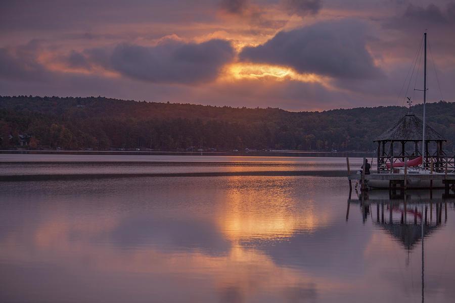 Sunrise Over Meredith Bay - Meredith, NH by Trevor Slauenwhite