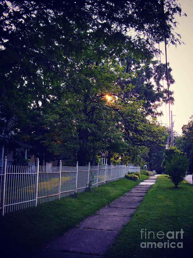 Documentary Photograph - Sunrise Over The White Fence - Frank J Casella by Frank J Casella