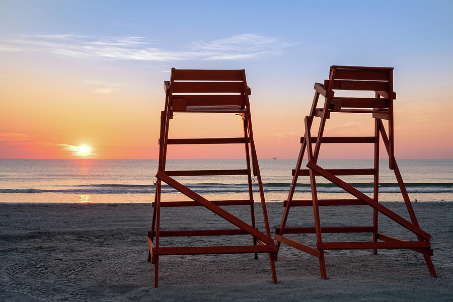 Sunrise Seating, Jacksonville Beach, Florida by Dawna Moore Photography
