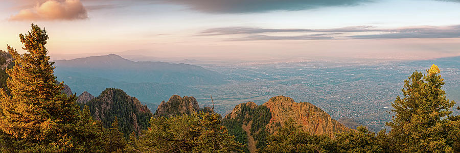 Sunrise View Of Albuquerque From Sandia Crest - New Mexico Land Of Enchantment Photograph