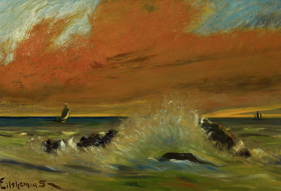 Louis Eilshemius Painting - Sunset, 1916 by Louis Eilshemius