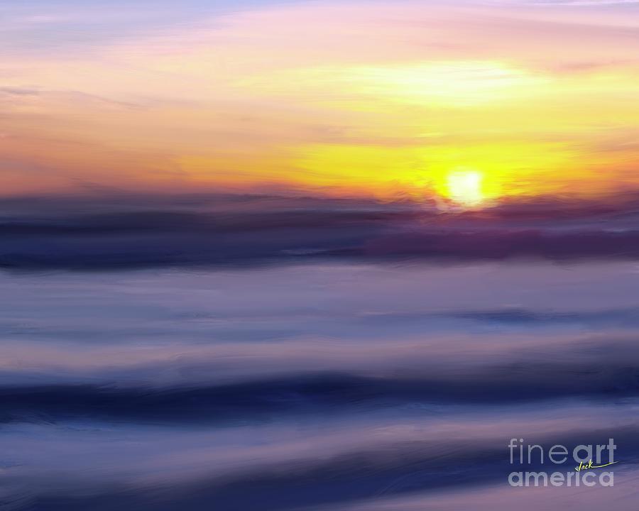 Sunrise Painting - Sunset 51521 by Jack Bunds