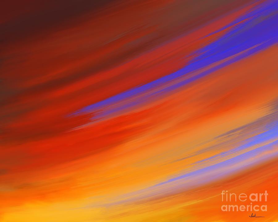 Sunrise Painting - Sunset 60421 by Jack Bunds