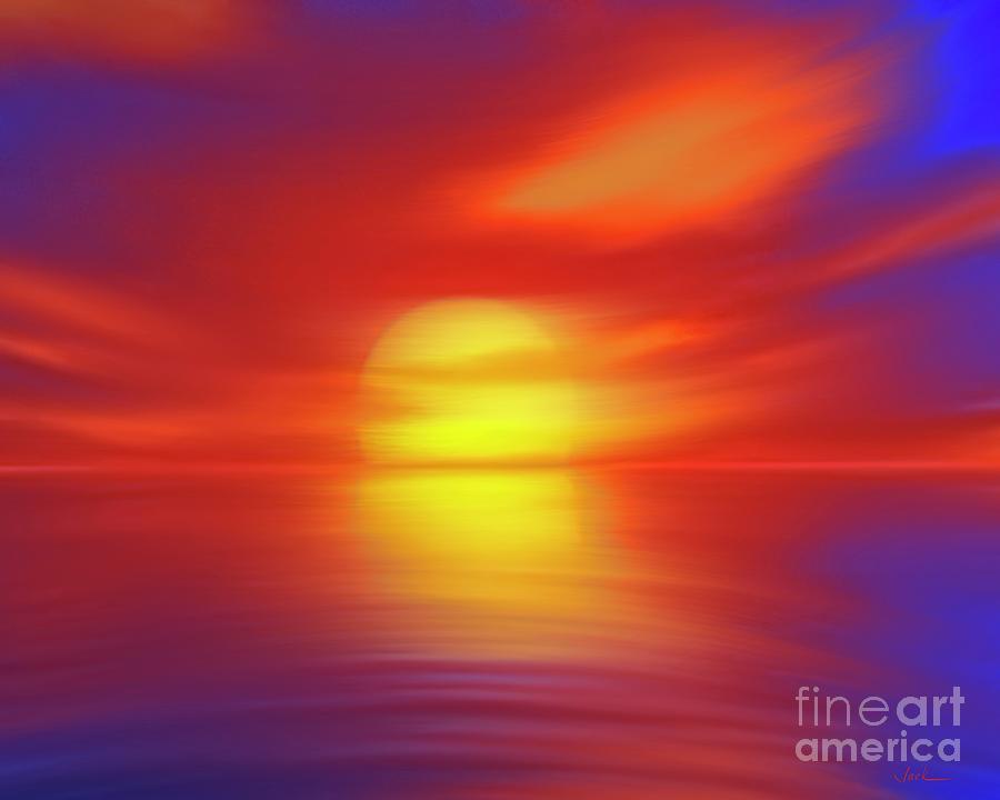 Sunset Painting - Sunset 82421 by Jack Bunds