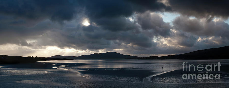 Sunset and Storm Clouds Over Isle of Harris by Tim Gainey