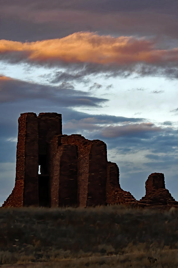 Sunset At Abo Ruins Photograph