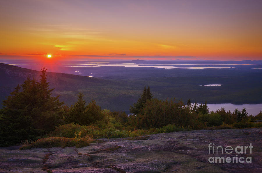 Sunset at Blue Hill Overlook by Sharon Seaward