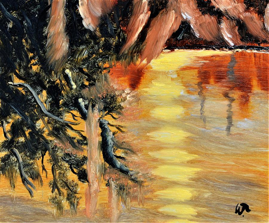 Sunset At Blue Springs Painting