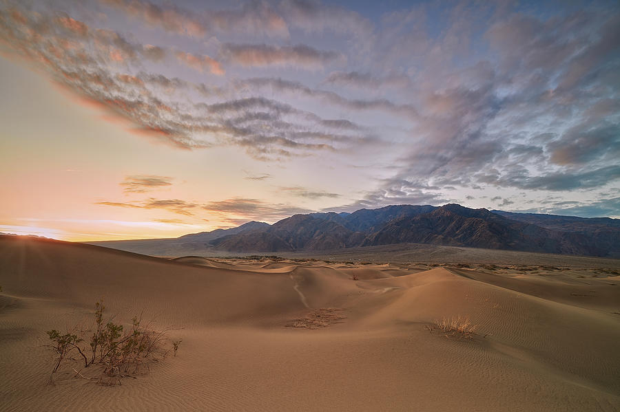 Sunset at Death Valley Dunes by Jon Glaser