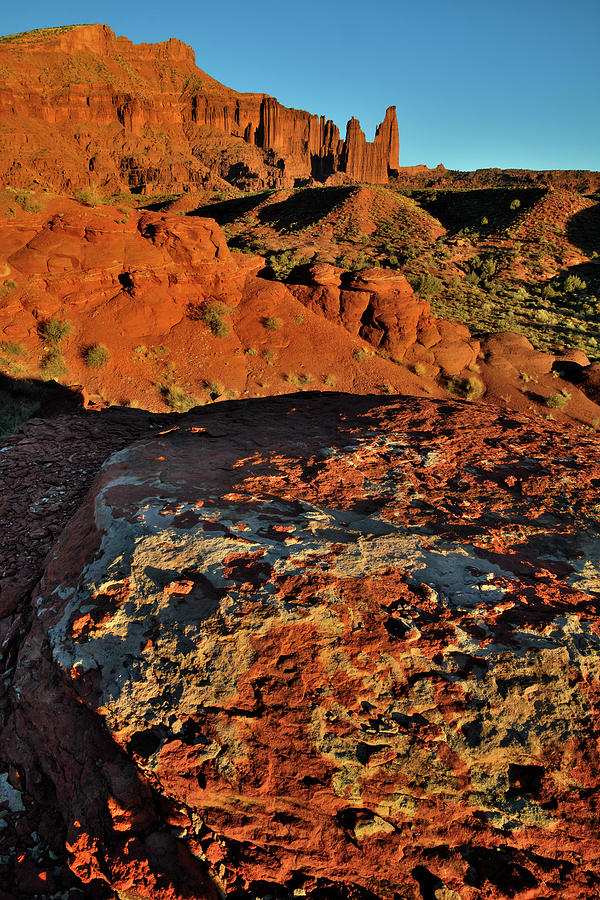 Sunset At Fisher Towers Photograph