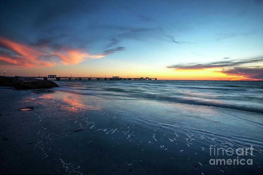 Long Exposure Photograph - Sunset At Fort DeSoto Park, Long Exposure by Felix Lai
