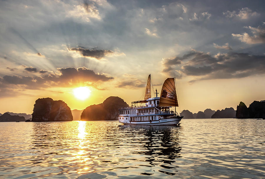 Sunset at Halong Bay by Rich Isaacman