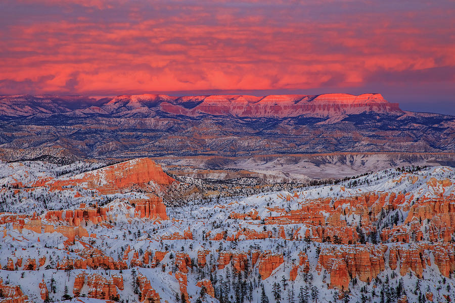 Sunset At Inspiration Point, Bryce Canyon National Park Photograph