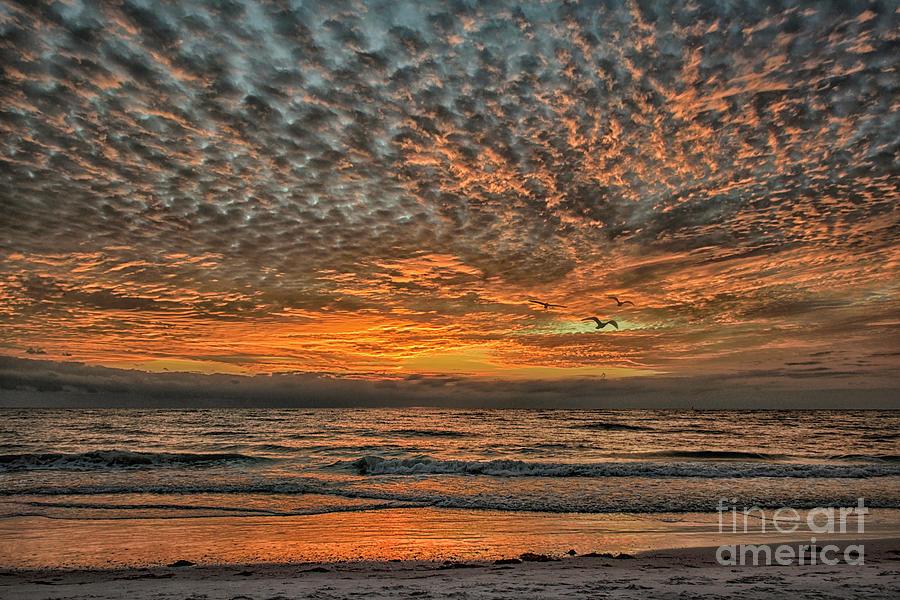 Sunset At Lido Beach Photograph