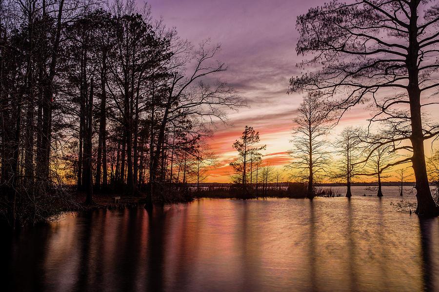 Landscape Photograph - Sunset at Munden Point by M C Hood