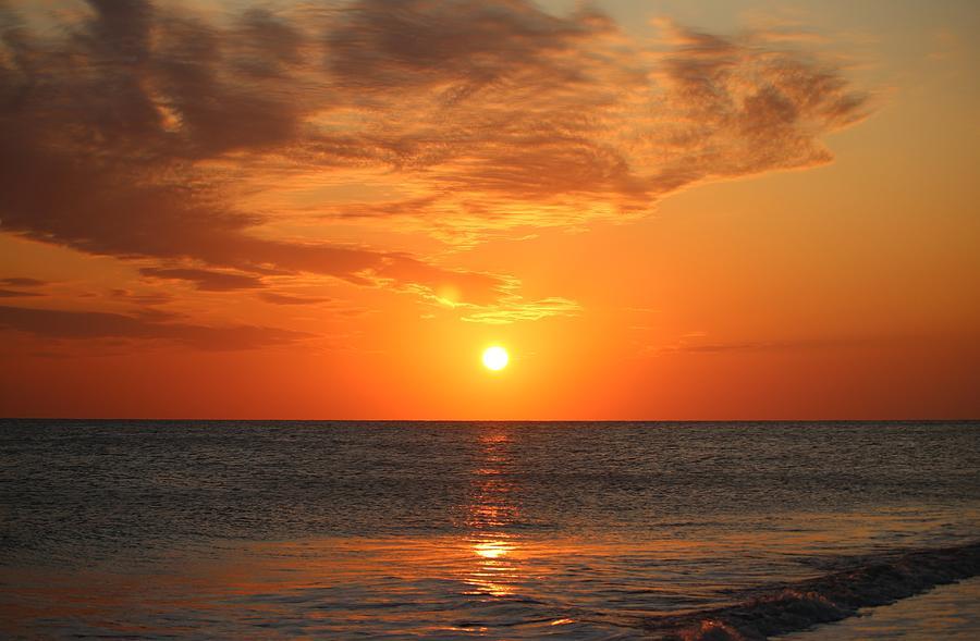 Sunset At Oak Island by Cynthia Guinn