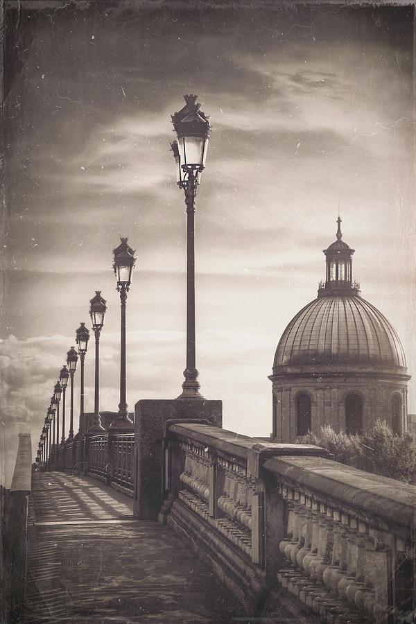 Sunset At Pont Saint Pierre Toulouse France Vintage Photograph