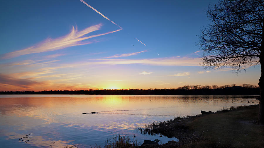 Sunset at The Lake 011120 by Rospotte Photography