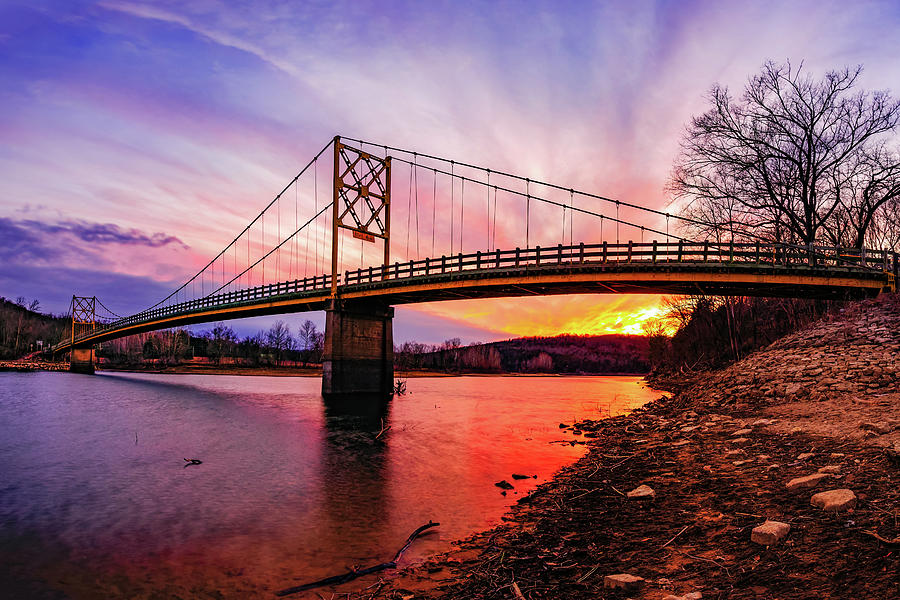 Sunset At The Little Golden Gate Bridge And White River Photograph