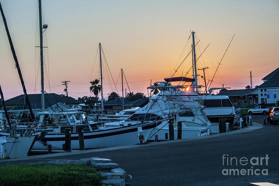 Sunset At The Marina by Tony Baca
