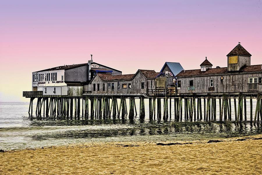 Old Orchard Photograph - Sunset At The Pier by Sandra Marie Photography