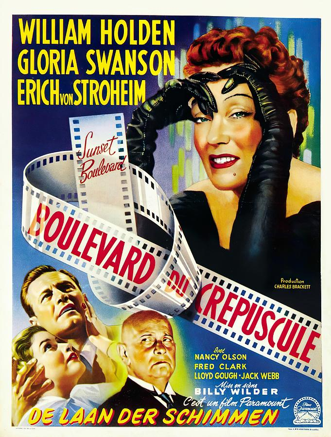 sunset Boulevard 2, With William Holden And Gloria Swanson, 1950 Mixed Media
