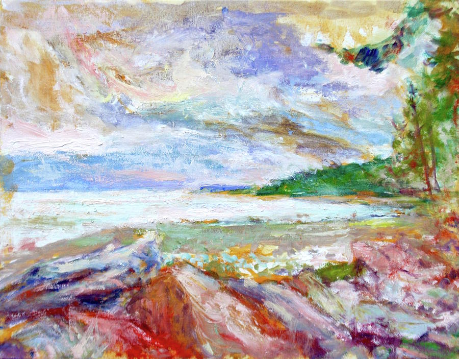 Sunset - Canadian Landscape Inspired by Emily Carr, Vancouver Island, Qualicum Bay by Quin Sweetman