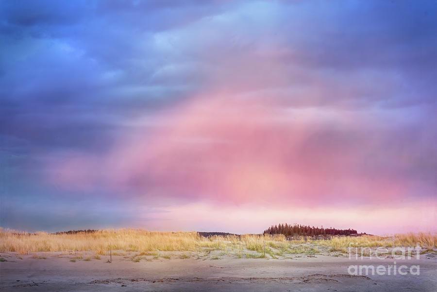 Sunset Clouds on Popham Beach, Phippsburg, Maine by Anita Pollak