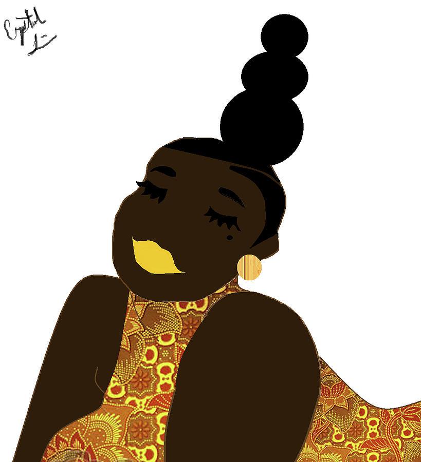 Black Girl Digital Art - Sunset by Crystal Guidry