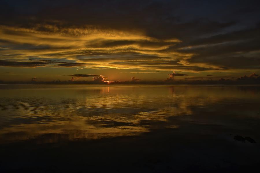 Sunset Drama Tahiti Photograph