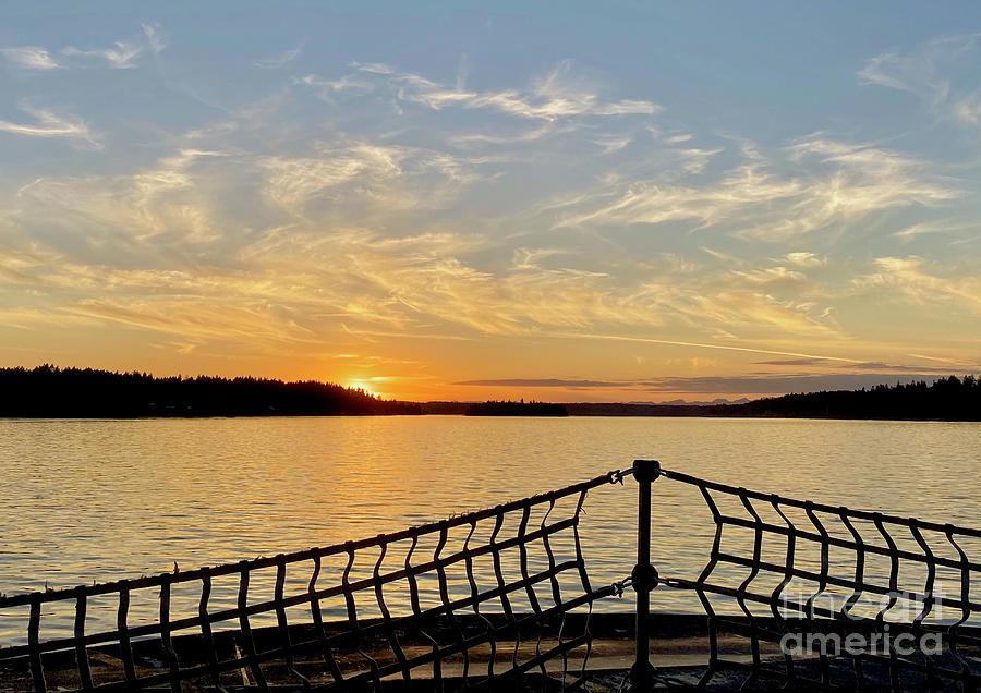 Sunset Ferry Photograph