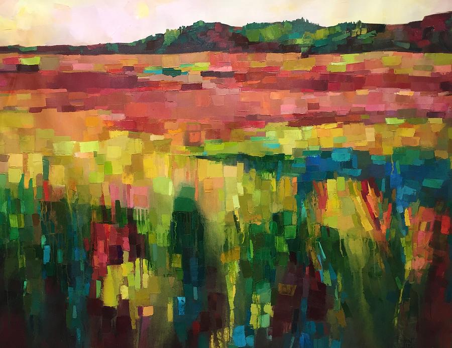 Fields Painting - Sunset Fields by Michele Norris