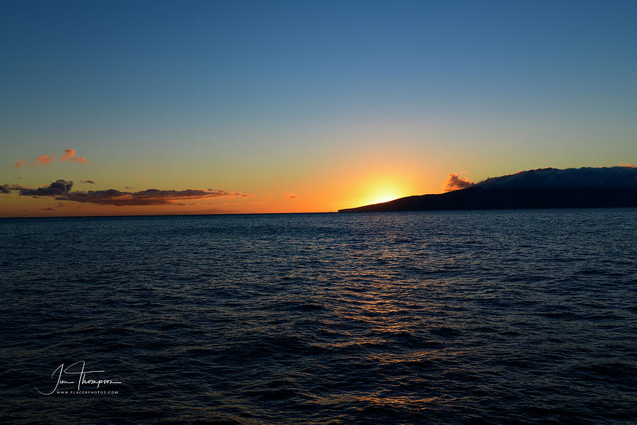 Hawaii Photograph - Sunset from Boat by Jim Thompson