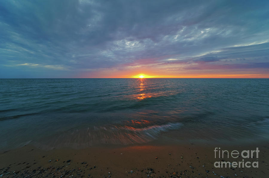 Sunset Glow At South Haven Photograph
