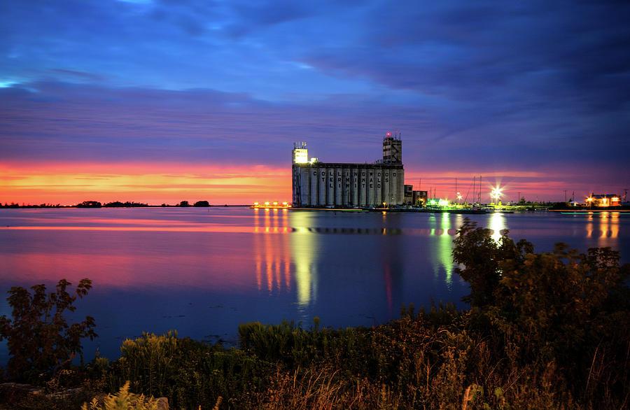 Sunset Grain Terminal Photograph by Eden Watt