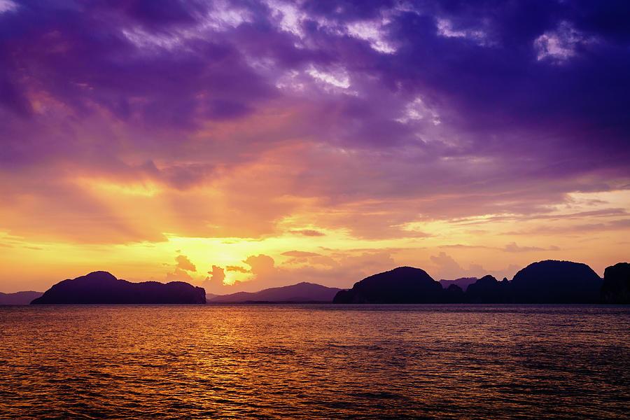 Sunset In Andaman Sea Photograph