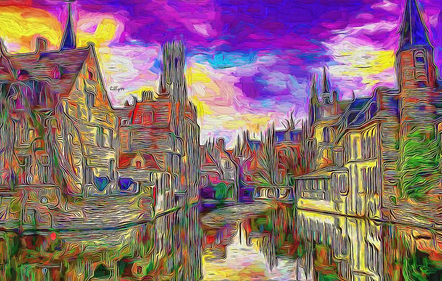 Sunset in Brugge by Nenad Vasic