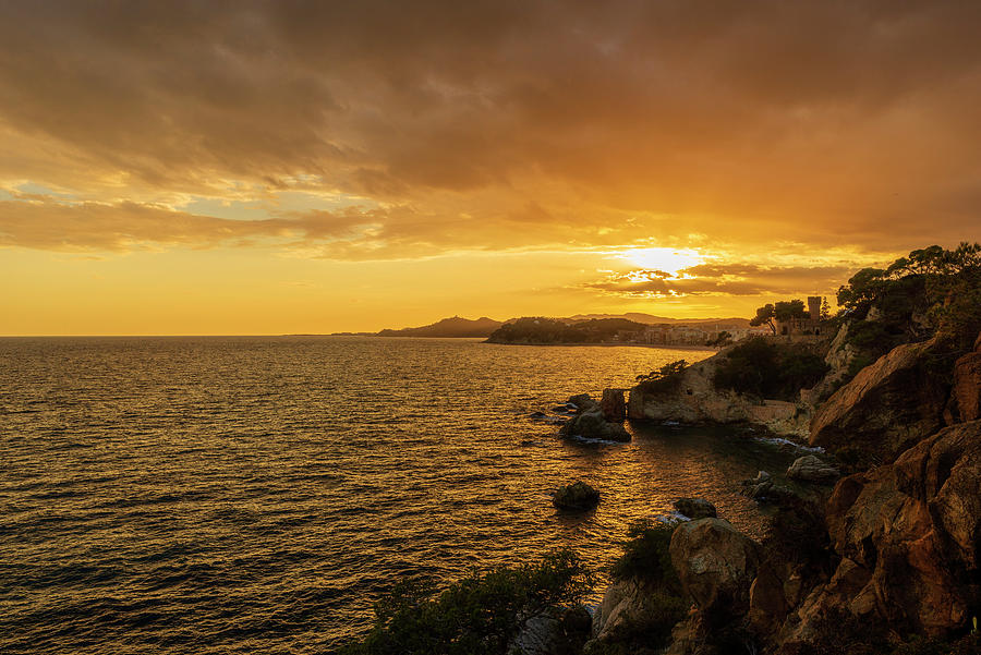 Lloret Photograph - Sunset In Lloret De Mar From The Cami De Ronda by Vicen Photography