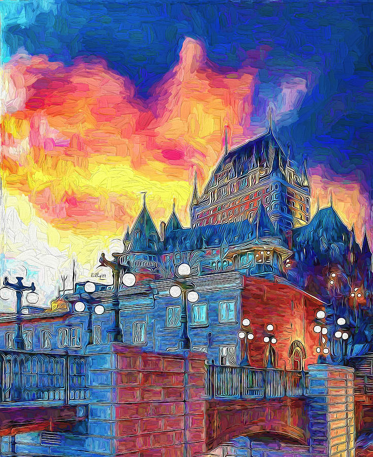 Sunset In Quebec Painting